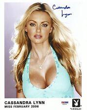 Cassandra Lynn Signed Playboy 8x10 Photo PSA/DNA COA Playmate Headshot Picture