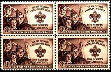 USA 1950 Sc995 1 block mnh Boy Scouts Issue