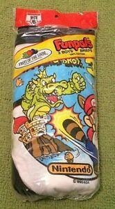3 1990 Super Mario Bros 3 Fruit of the Loom Funpals Boys Briefs NOS NIB Nintendo