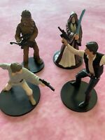 Lot Of 4  Star Wars Figures  Obi Wan ( Disney Store ) Luke Skywalker, Han  Solo