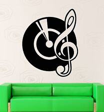 Wall Stickers Vinyl Decal Vinyl Records Music Notes DJ Cool Room Decor (ig1538)