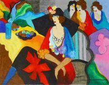 "ART DECO PRINT. ""Gossip"", by Itzchak Tarkay. On glossy photo paper 27 x 21 cms."