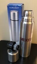 Nextel Thermos Canteen Lot of 2 Stainless Steel Hot Cold Bottle VacuumSeal Promo