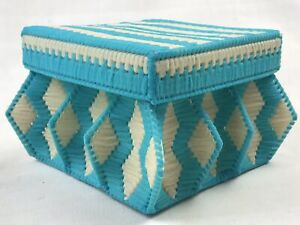 Vintage Sewing Basket 13cm X 13cm