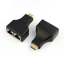 HDMI To Dual Port RJ45 Network Cable Extender Over by Cat 5e/6 1080p Discount