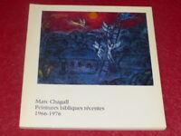 [ART XXe] MARC CHAGALL CATALOGUE EXPO PEINTURES BIBLIQUES RMN EO 1977 MMB NICE