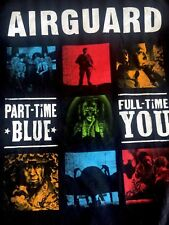 AIRGUARD PART-TIME BLUE FULL-TIME You GOANG.COM Courage Triumph Men's T-Shirt L
