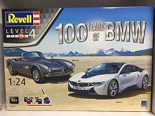 +++ Revell Geschenkset 100 Jahre BMW 1:24 05738