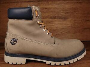 Timberland Men's Premium 6 inch Boots Light Grey Waterproof 400 Gram Size 14