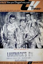 TV Guide 1966 Regional Lost In Space June Lockhart Guy Williams TV Times COA