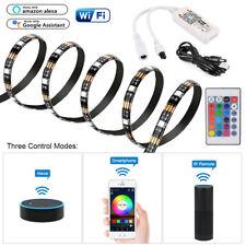 2m USB LED RGB Streifen Strip Leiste Alexa 5050 Band Lichter DC 5V Leuchte WLAN