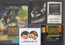 Jeu SEGA MEGA DRIVE JUNGLE STRIKE THE SEQUEL TO DESERT  BOITE + NOTICE + JEU