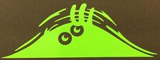 NEW LIME GREEN PEEKING PEEPING MONSTER CAR TRUCK VINYL DECAL STICKER EMBLEM