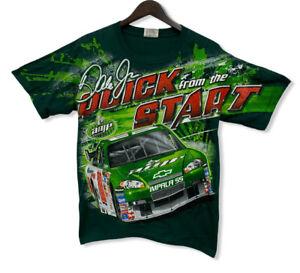 Vtg Dale Earnhardt Jr Chase NASCAR Men's Size M All Over Print Green T-Shirt etc