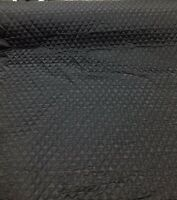 QUILTED FABRIC SATIN BLACK 1 in Diamond Clothing Dress Plain Material Pets 150CM