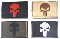Punisher Skull Military Patch Badge 8x5cm airsoft hook loop Army Marines Combat