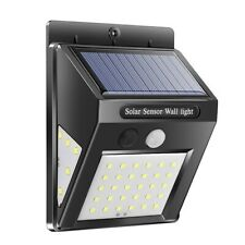LED Solar-Wandleuchte mit 30+5+5 LED´s