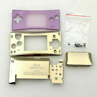 Game Boy Micro Full Housing Shell Replacement GBM W/ Faceplate Gold & Pink NEW