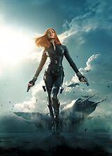 Poster A3 Capitan America Soldado De Invierno Viuda Negra 01