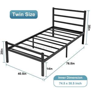 """14"""" Platform Bed Frame Heavy Duty Folding Foundation Steel Base Twin Queen Full"""
