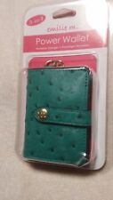 NWT LEATHER 3 in 1 POWER WALLET   GREEN OSTRICH  ANDROID  APPLE  LG