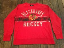 CHICAGO BLACKHAWKS mens M medium red light sweatshirt G-III Sports by Carl Banks