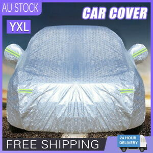 YXL 3Layer Aluminum Waterproof Outdoor Car Cover Double Thick Rain UV Resistant