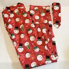 Suitmeister Men Red 2 Piece Pants & Tie Sz 38-40 Snowman Christmas  Ugly Fun