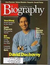 DAVID DUCHOVNY X-FILES Biography Magazine 6/98 BILL COSBY DONALD TRUMP PC
