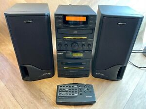 Aiwa LCX-150 Compact CD/Cassette/Radio Hifi System with Speakers & Remote,Tested