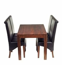 Wooden Fixed Contemporary Piece Table & Chair Sets 5