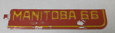 1966 Manitoba Canada passenger car license plate tab