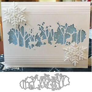Merry Christmas Metal Cutting Dies Stencils Scrapbooking Photo Album Decor
