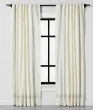 Hearth & Hands Engineered Plaid Curtain Panel Sour Cream Gray 108 in L