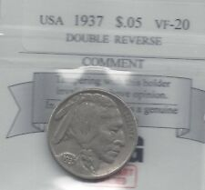 **1937** USA, Five Cent, Buffalo Nickel, Double Reverse