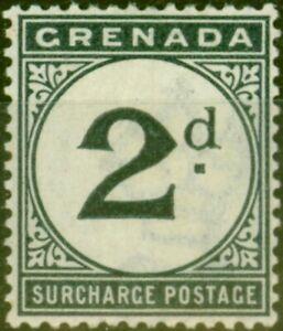 Grenada 1892 2d Blue-Black SGD2 Fine Mtd Mint