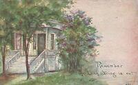 Vintage Postcard 1913 Remember the Latch String is Out Pub. F.A. Owen
