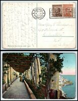 1923 ITALY Postcard - Napoli to Rochester, New York USA H3