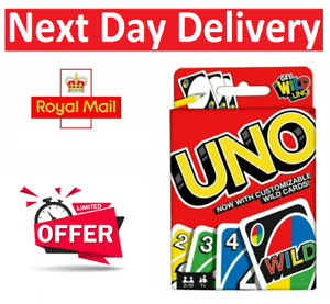 UNO CARD GAME With WILD CARDS Matte Latest Version Family Fun Indoor Party UK
