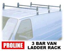 Van Ladder Roof Rack - 3 Complete Rain Gutter Mounted Crossbars