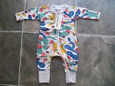 BNWT Baby Boy's Bonds Tigers & Snakes Zip Wondersuit/Coverall/Sleeper Size 0000