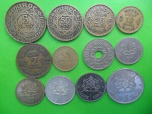 Morocco Maroc  - Lot of 12 Coins