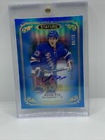 2019/20 UD Stature Rookie Auto Blue Adam Fox #/15 New York Rangers! SP! Rare!