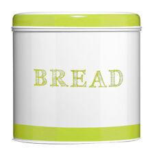 Food Storage Bread Bin Green Orange Band Galvanised Steel Home Kitchen Dining
