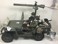 1/6 US 101ST AIRBORNE PARATROOPERS JEEP+75mmA/T GUN+2 FIGURES WW2 DRAGON BBI DID