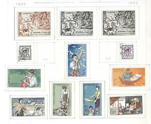 Laos stamps 1956 Collection of 12 stamps HIGH VALUE!