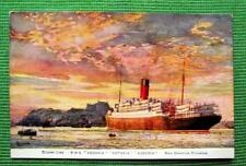 RMS Andania Antonia Ausonia Cunard White Star Shipping Line Postcard c1930's