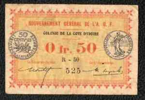 50c French West Africa Ivory Coast - High Grade - NO RESERVE