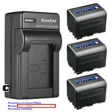 Kastar Battery AC Wall Charger for Sony NP-QM71D Sony Video Walkman GV-D1000