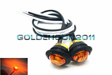"2x Yellow 3/4"" LED Marker Lights Triple Diode Truck Trailer Clearance Indicator"